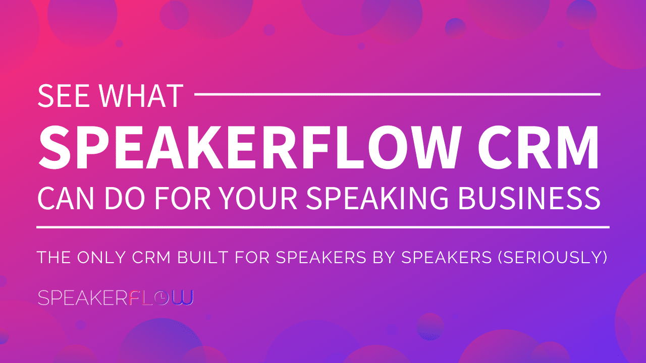 SpeakerFlow CRM Best CRM for Speakers Meta Card
