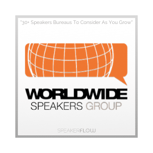 Worldwide Speakers Group Graphic for 30 Plus Speakers Bureaus To Consider As You Grow - SpeakerFlow